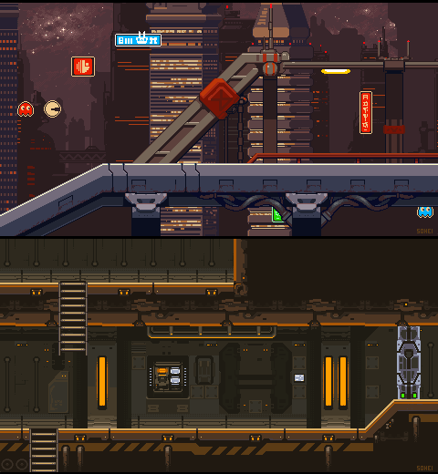 Army Base and Night City levels mockup