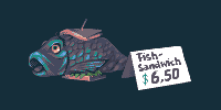 [pixel dailies] fish sandwich