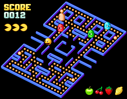 Trimetric Pac-Man mockup