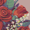 Bouquet of Flowers icon/pixelart