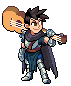 guitar knight icon/pixelart