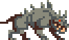 Hellhound Walk and Run Animations icon/pixelart