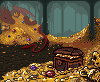In a Dragon's Lair icon/pixelart