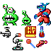 Commander Keen 1 (Items and enemies) icon/pixelart
