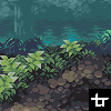 Bamboo Forest icon/pixelart