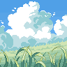 Cloudy Field icon/pixelart