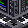 Electronic music altar icon/pixelart