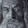 Gandalf B&W icon/pixelart