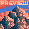 Lonely mountain icon/pixelart