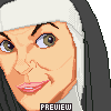Nun Portrait icon/pixelart