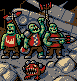 3 Tankbustas and Bomb Squig icon/pixelart