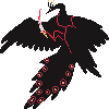 killer peacock icon/pixelart