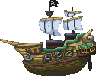 Pirate Ship icon/pixelart
