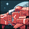 Chriss Foss Style Space fighter icon/pixelart