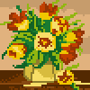 Flowers in a Vase icon/pixelart