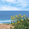 Ocean View icon/pixelart