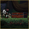 Forest mockup. icon/pixelart