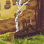 Autumn landscape icon/pixelart