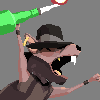 Molotov rat icon/pixelart