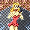 Retro Lady icon/pixelart