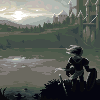 Returning Home To Dragon's Gate icon/pixelart