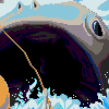 Hunting for lunch icon/pixelart