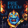 Rock This Ocean! icon/pixelart