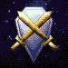 Shield in the Stars icon/pixelart