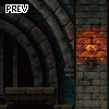 environment castle prison. icon/pixelart