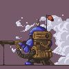 Steam Musketeer icon/pixelart