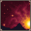 Different Planet Sunset icon/pixelart