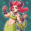 Taurus Mermaid icon/pixelart