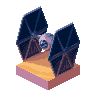 Tie Fighter Pixel Dailies icon/pixelart