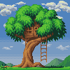 Tree House ^-^ icon/pixelart