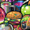 Trash Food Items icon/pixelart