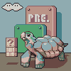 Turtle, Parrot, Narwhal icon/pixelart