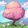Hanami season icon/pixelart