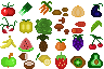 Consumable Items - Fruits and Vegetables icon/pixelart