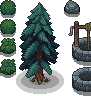 Plants and Stones icon/pixelart