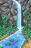 Waterfall icon/pixelart