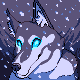 Winter's dog icon/pixelart
