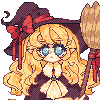 Little witch icon/pixelart