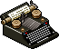 Old typewriter icon/pixelart