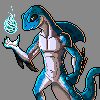 aquatic dragon icon/pixelart