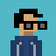 Nerd avatar icon/pixelart
