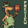 Basketball player icon/pixelart