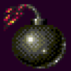 Bomb to heart icon/pixelart
