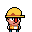 Construction Worker icon/pixelart