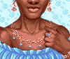 Blue Diamond Rose Gold Portrait icon/pixelart