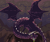 Acid Dragon in Volcano Land icon/pixelart